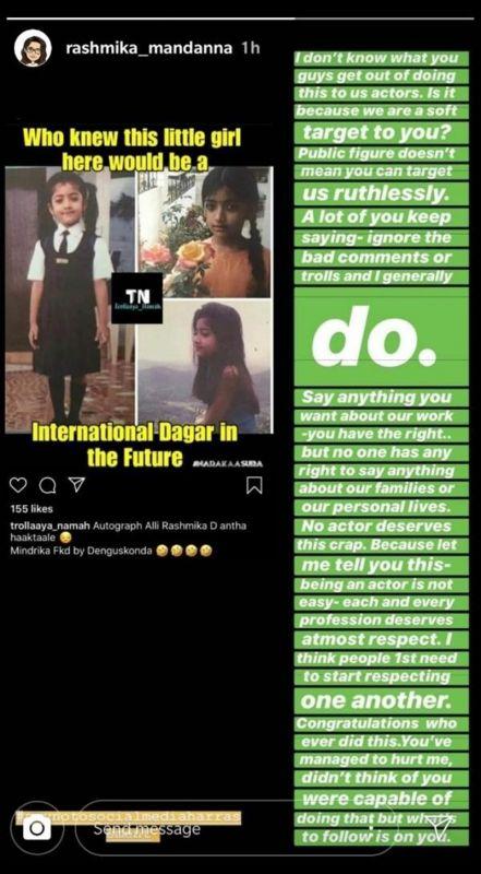 Troll created a meme on Rashmika Mandanna