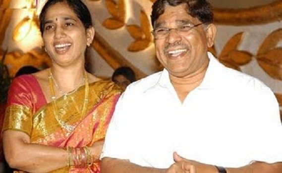 Allu Aravind with her wife