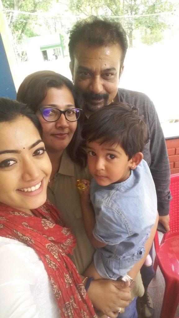 Rashmika mandanna with her family