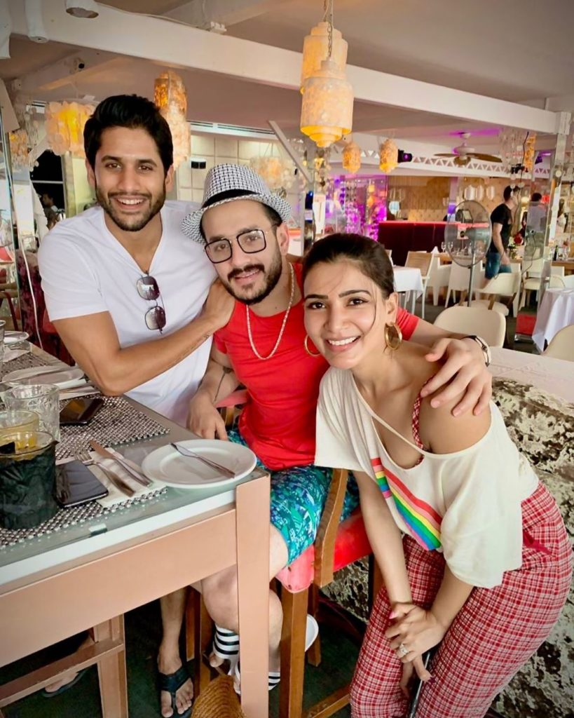 Akhil Akkineni with half-brother and Sister-in-law