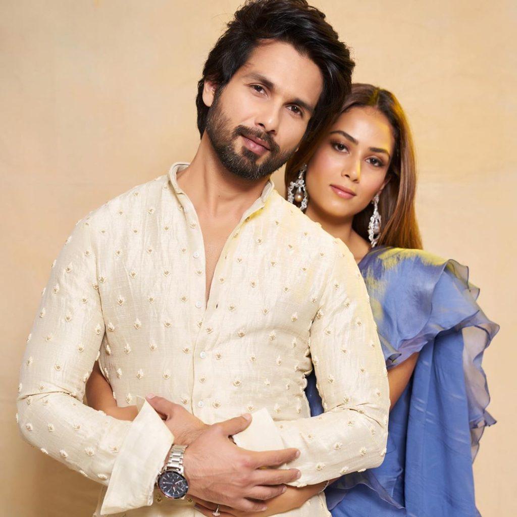 Mira Rajput with husband Shahid Kapoor