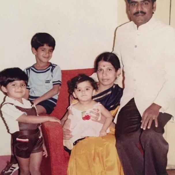 A Childhood Picture of Anushka Shetty