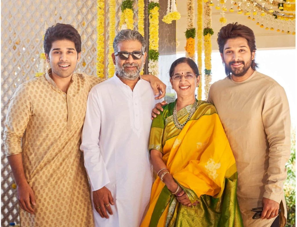 Allu Aravind Wife and sons