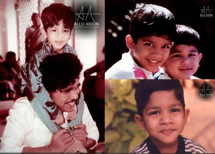 Allu Arjun in his Childhood