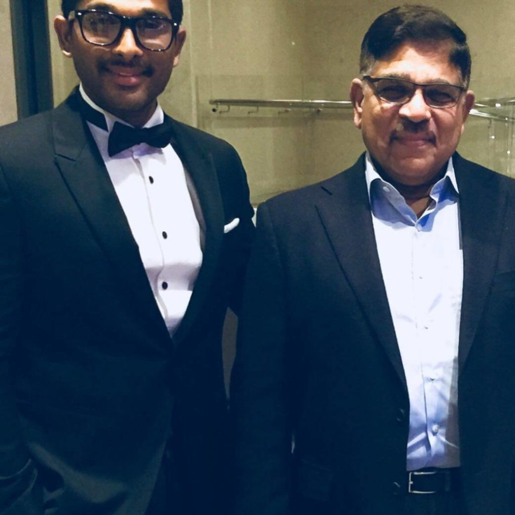 Allu Arjun with his father