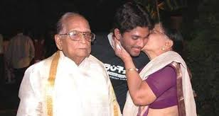 Allu Arjun with his grandparents
