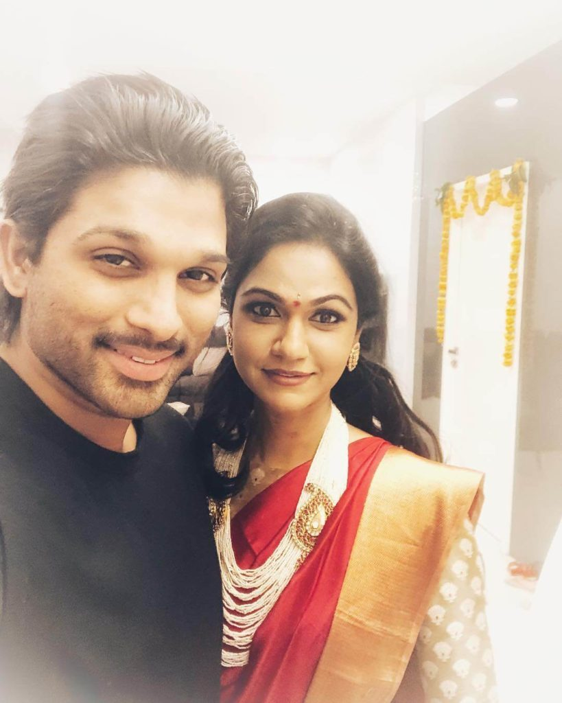 Allu Arjun with his wife sneha reddy