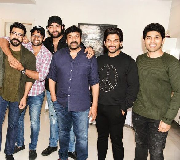 Allu Arjun with mega family