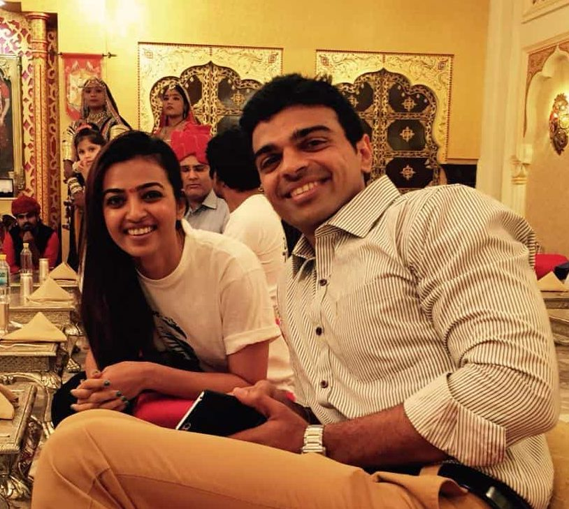 Radhika Apte with her Brother