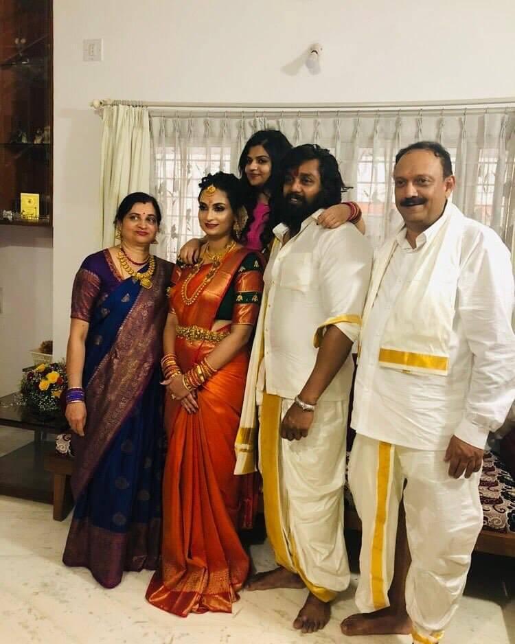 Dhruva Sarja family
