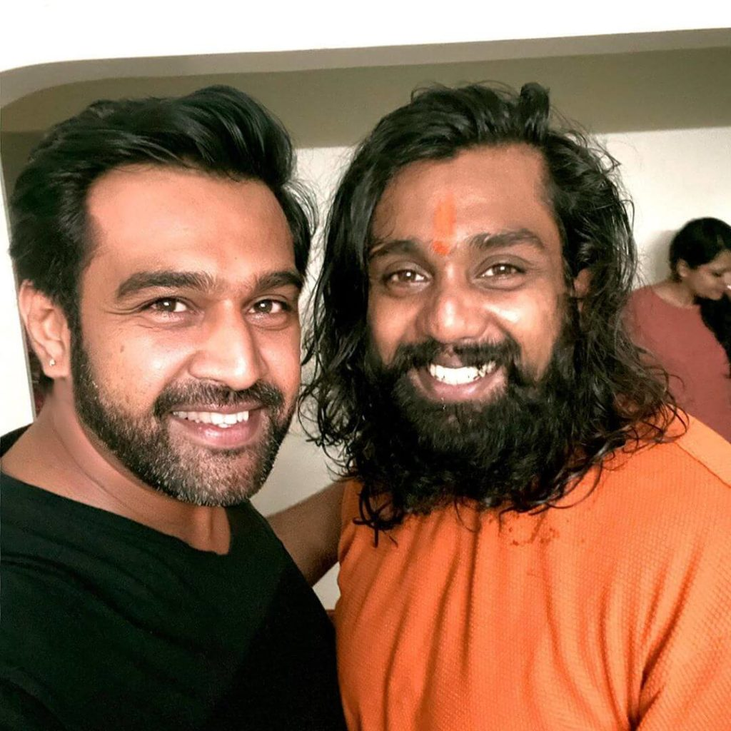 Dhruva Sarja with his brother