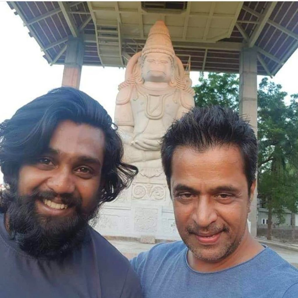 Dhruva Sarja with his uncle Arjun Sarja