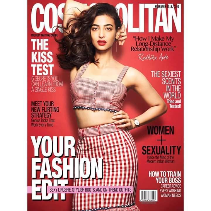 Radhika Apte in cosmopolitan magazine cover