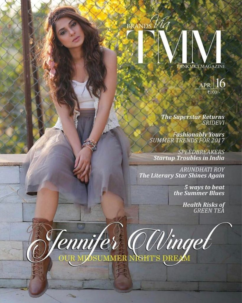 Jennifer Winget on the cover page of TMM magazine