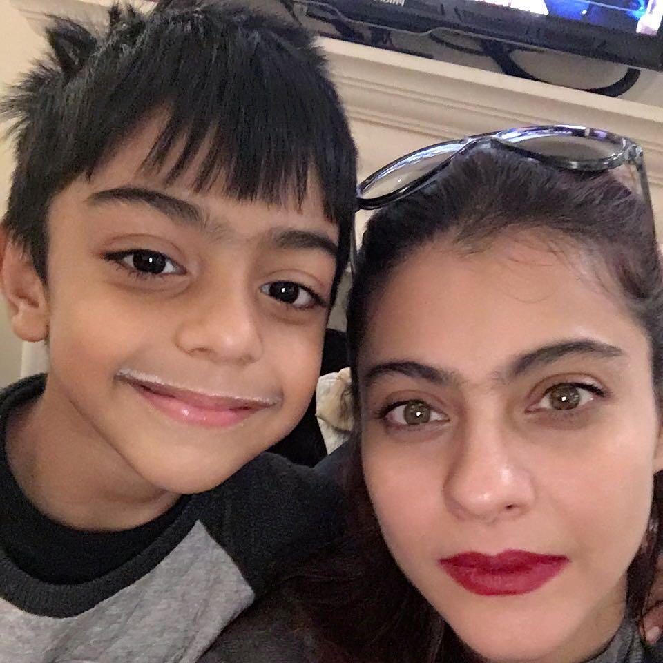 Kajol With Her Son Yug
