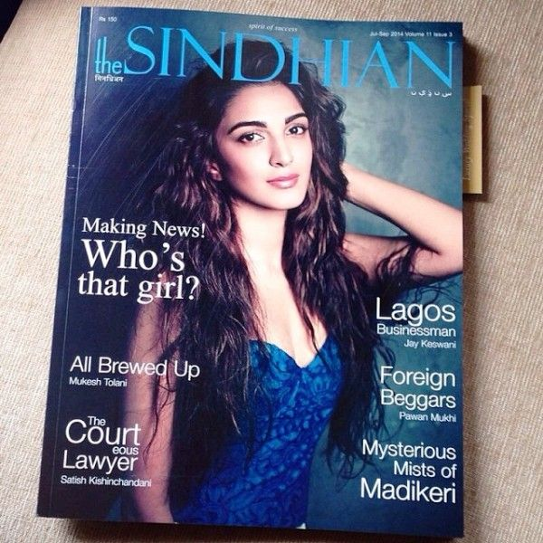 Kiara Advani featured On Cover page Of The-Sindhian Magazine