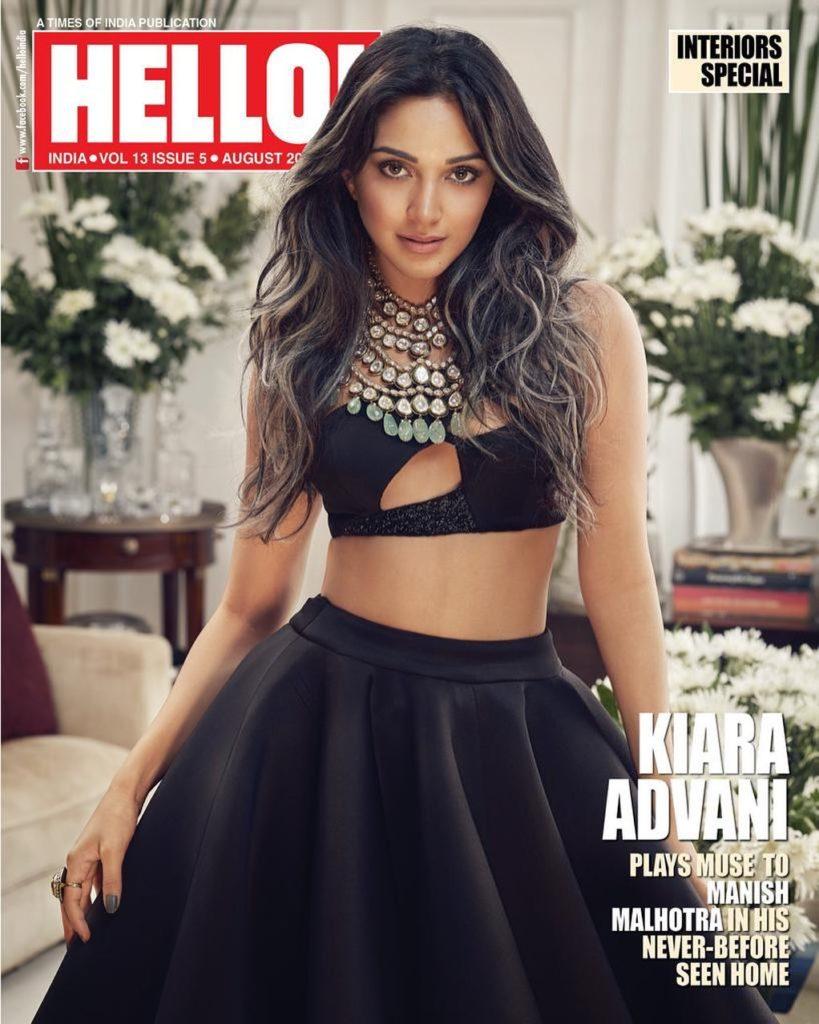 Kiara Advani on the cover of Hello magazine
