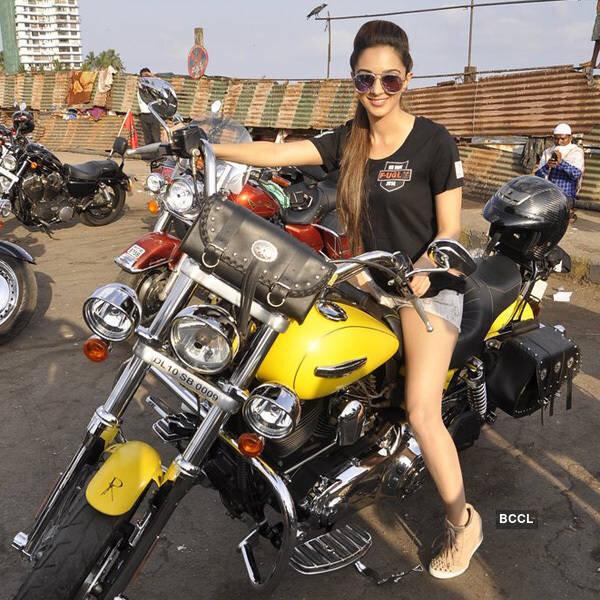 Kiara Advani riding bike