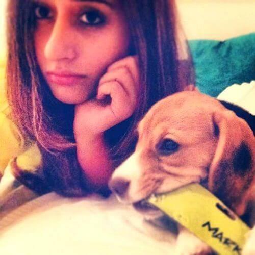 Natasha with her dog