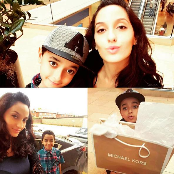 Nora Fatehi With Her Younger brother