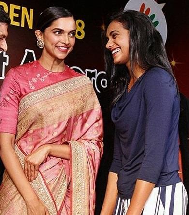 P V Sindhu With Deepika Padukone