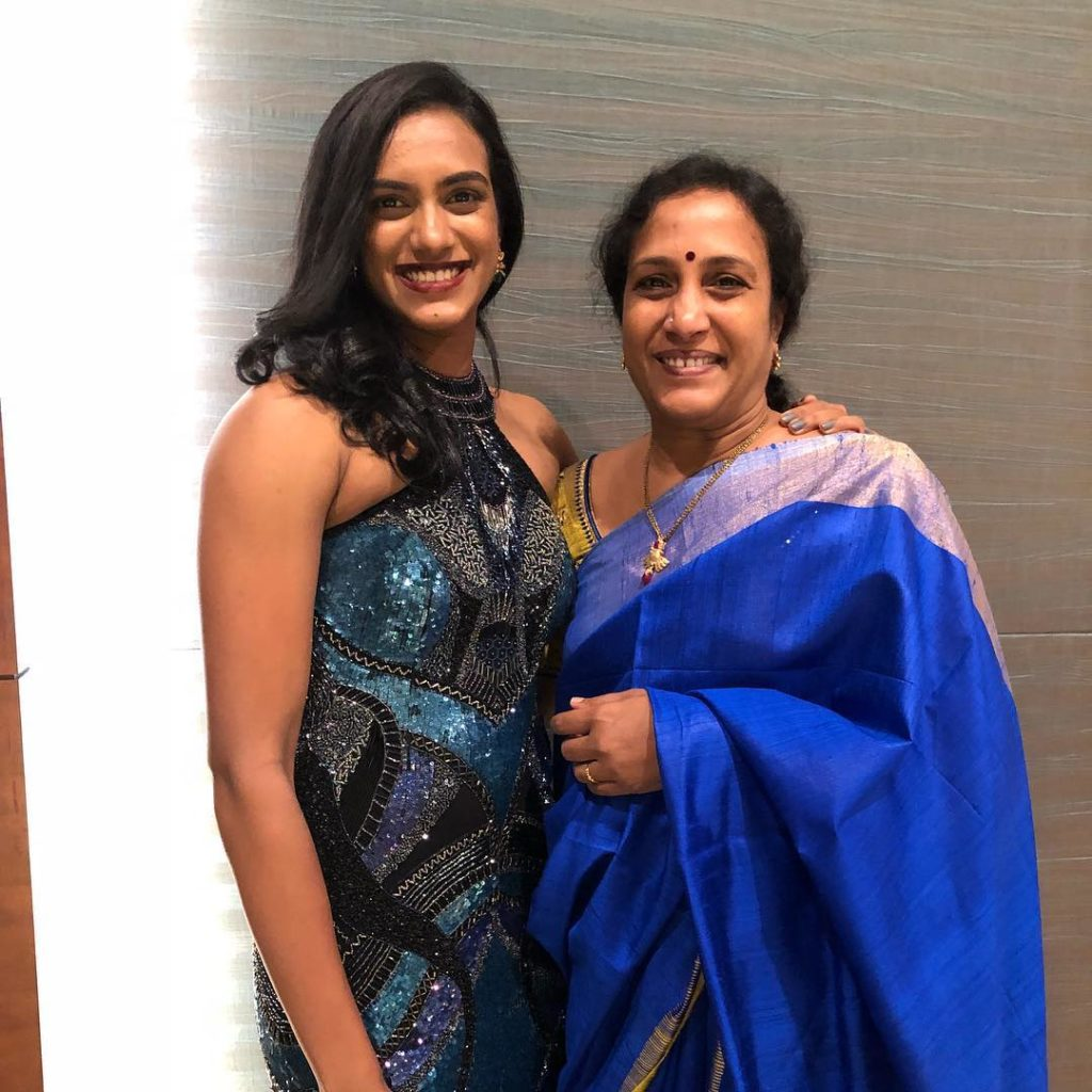 P. V. Sindhu With Her Mother