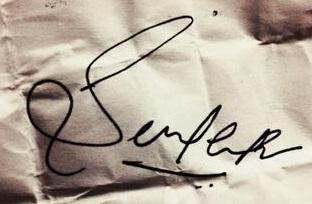 P. V. Sindhu signature