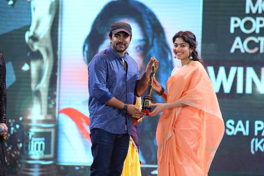Sai Pallavi, won Asianet Film Award, For Her Movie, Kali