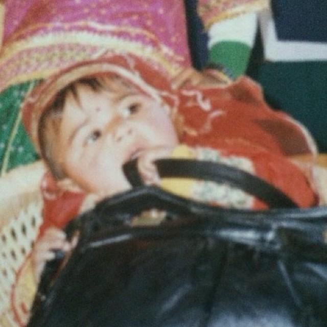 Vaani Kapoor in her Childhood