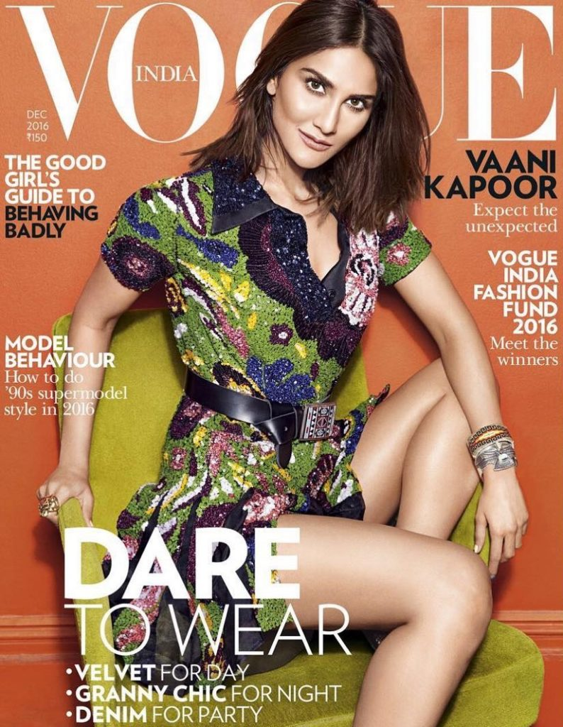 Vaani Kapoor on the Cover of Vogue