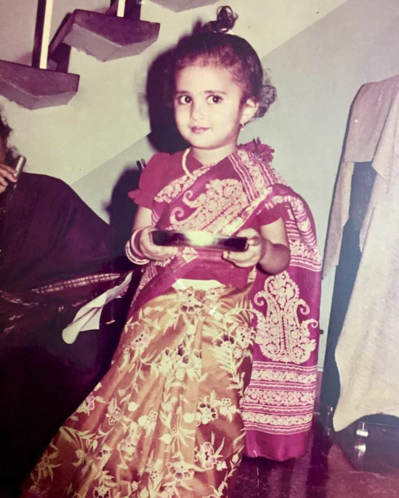 Vidya iyer in her childwood