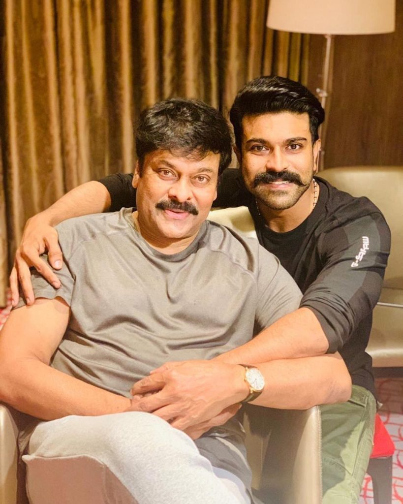 chiranjeevi with his son
