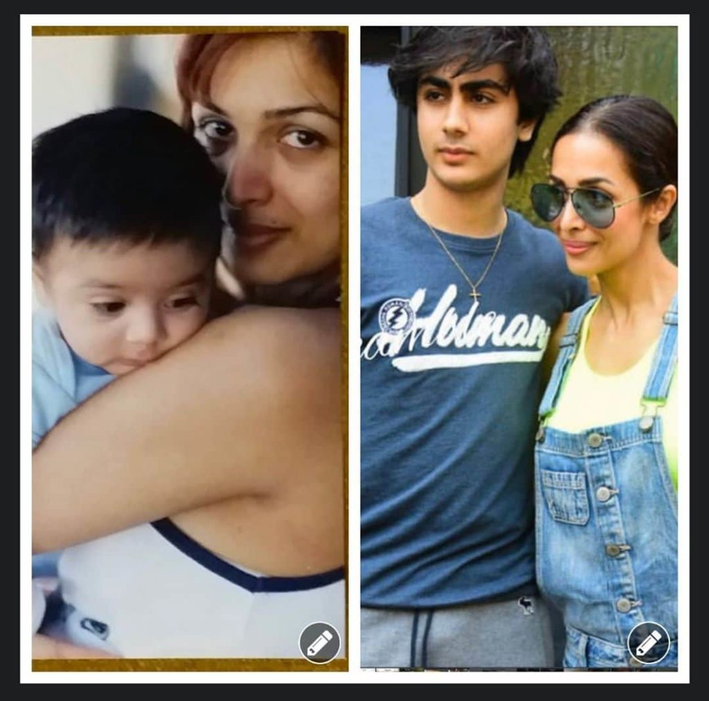 Malaika arora and her son