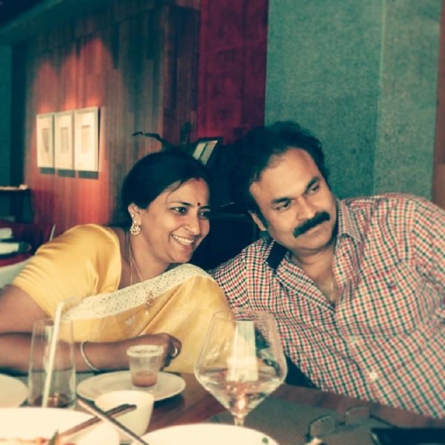 Nagababu with his wife Padmaja