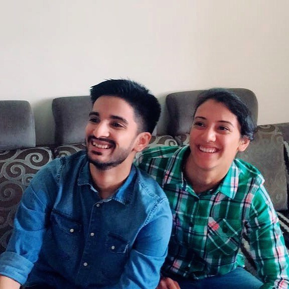 Smriti Mandhana with her father