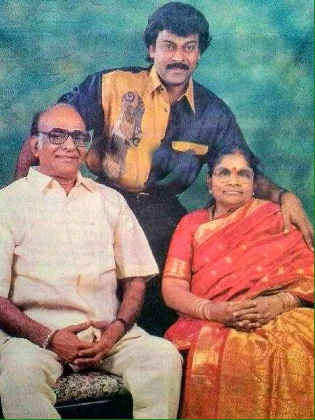 Chiranjeevi with his parents