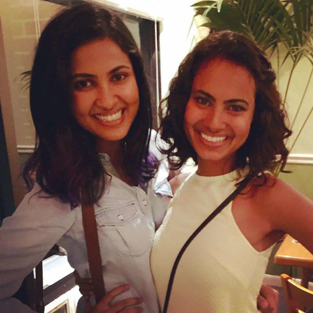 vidya iyer with her sister