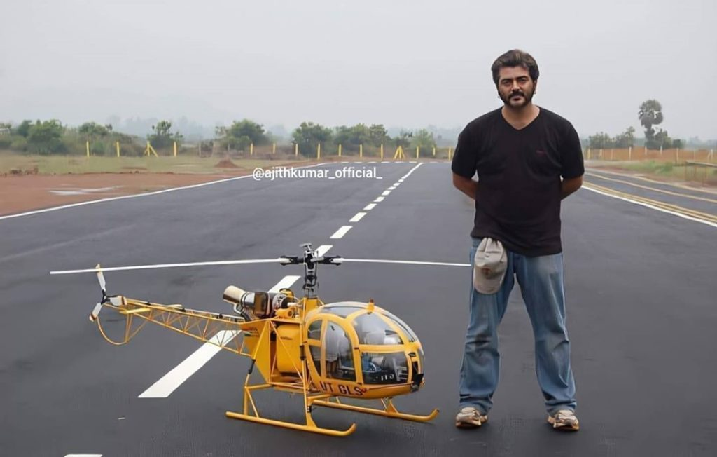 Ajith Kumar as a trained pilot