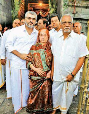 Ajith Kumar with his Parents