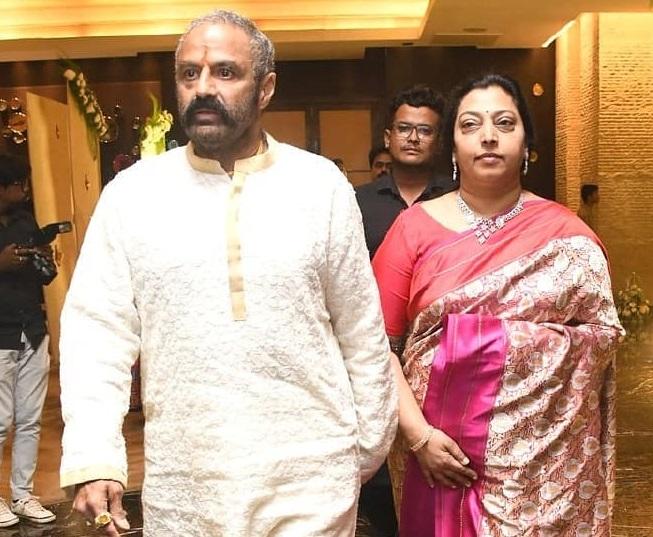 Balakrishna with his wife