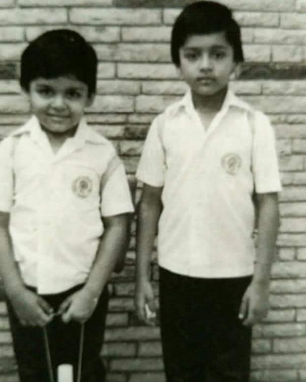 Childhood picture of Karthi