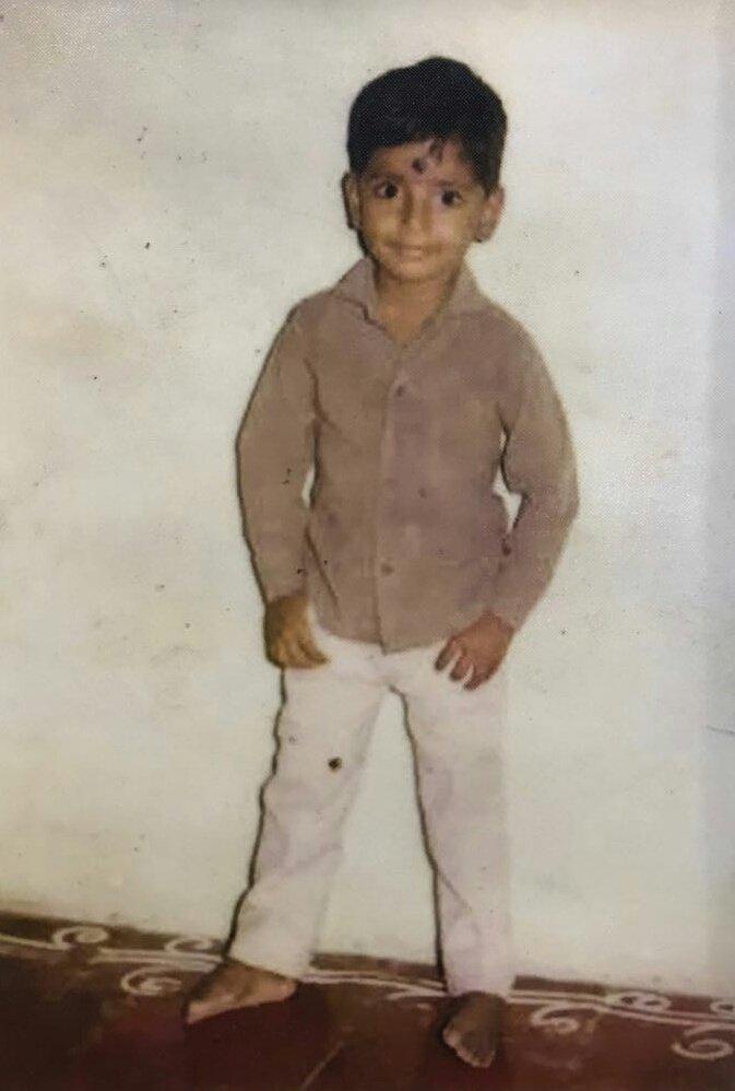 Childhood picture of Sivakarthikeyan