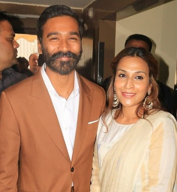 Dhanush with his wife