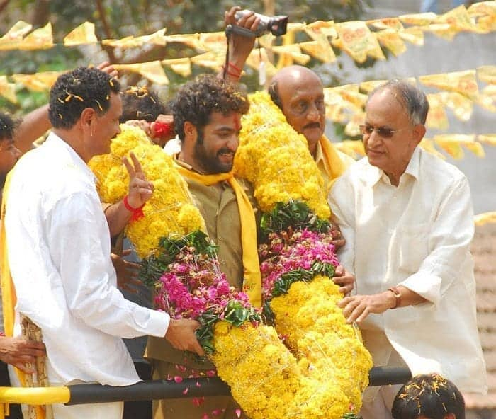 Jr. NTR campaigning for TDP Party