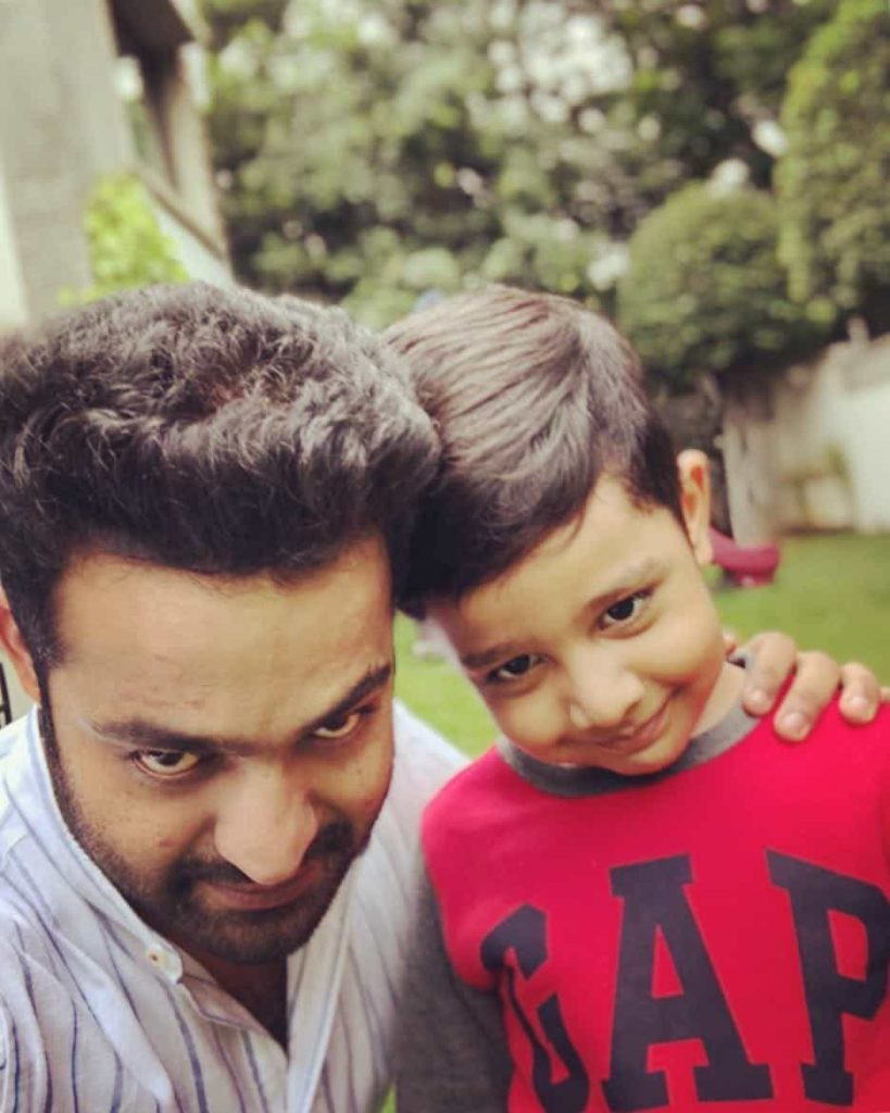Jr. NTR with his Abhay Ram