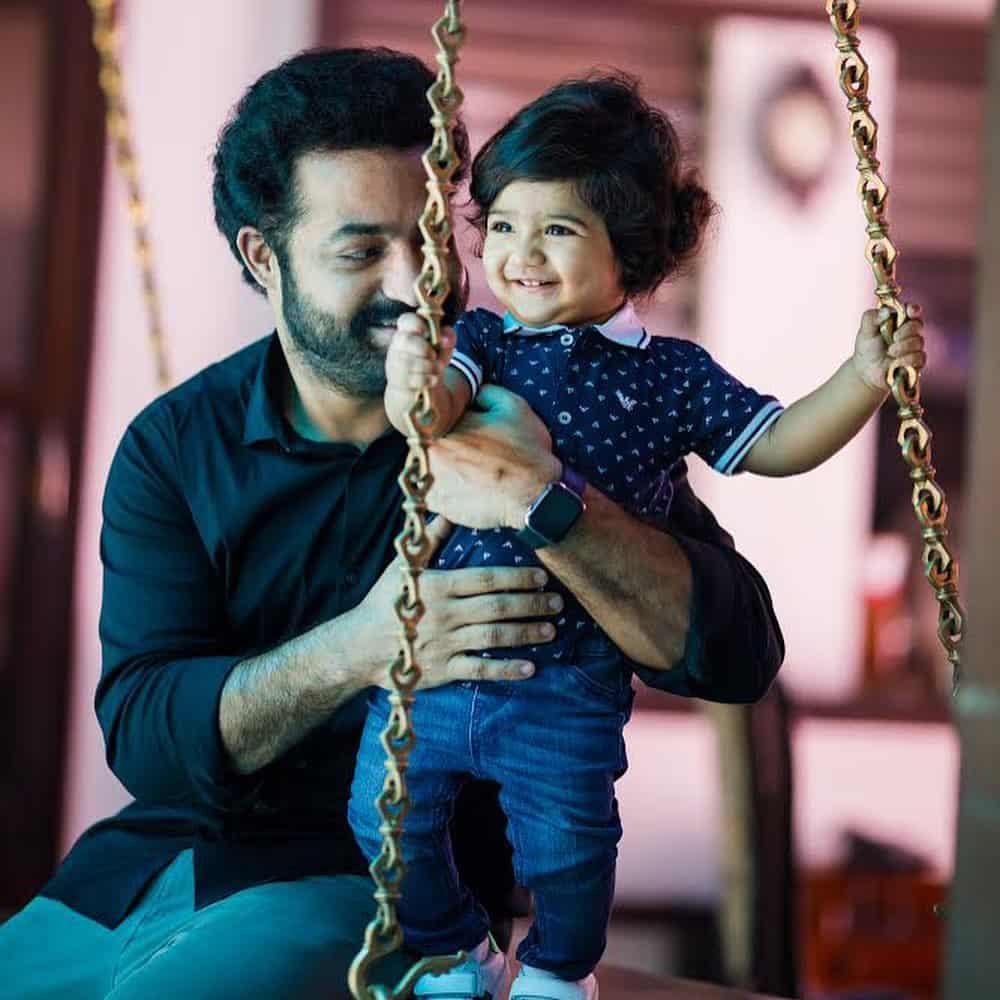 Jr. NTR with his son Bhargava Ram