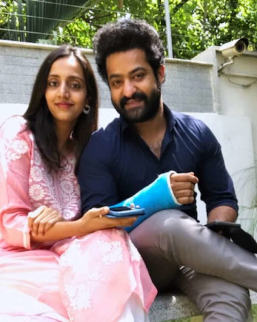 Jr. NTR with his wife Lakshmi Pranathi