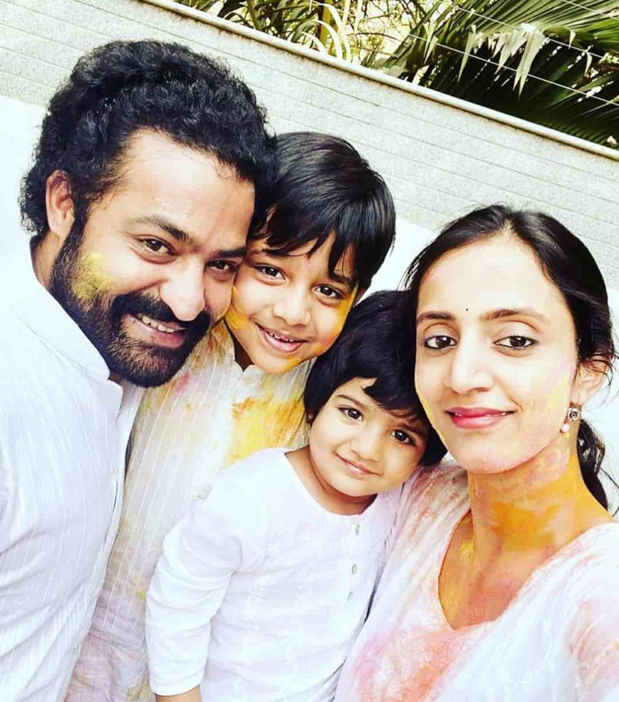 Jr. NTR with his wife and Children's
