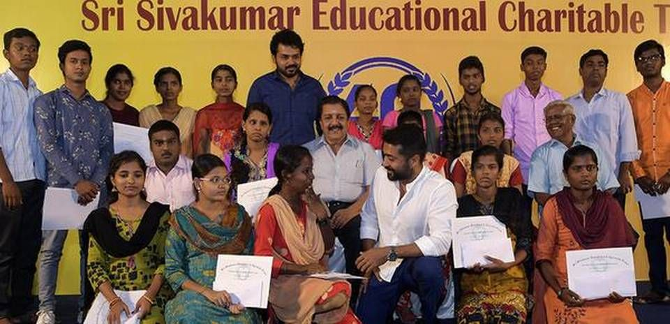 Karthi is actively involved in humanitarian activities