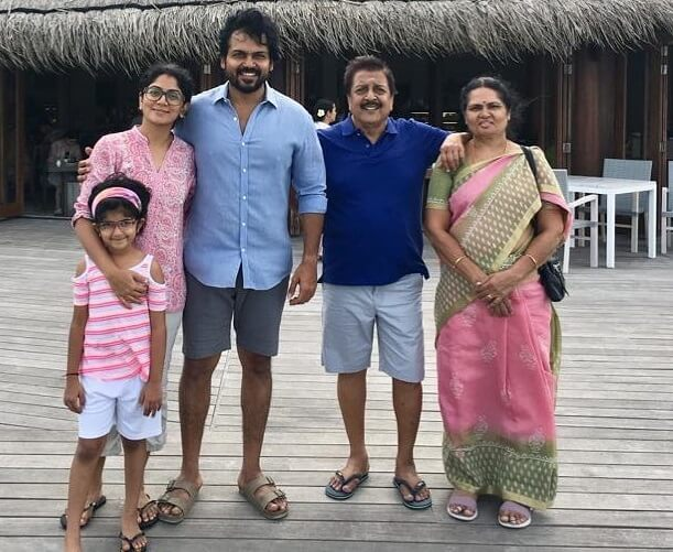 Karthi with his parents
